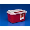 Multi Purpose Sharps Container, Red with Sliding Lid, 1 Gallon, 32/CS