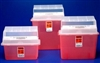 Sharps Container, In-Room, 3 Gallon, Translucent Red