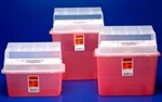 Sharps Container, 2 Gallon, Translucent Red