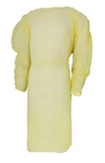 McKesson Fluid-Resistant Isolation Gown, One Size Fits Most, Yellow, Elastic Cuff, Adult, Disposable, 10/PK 50/CS