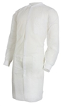 Lab Coat, White, Large to X-Large, Long Sleeves, Knee Length, 30/CS