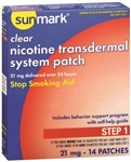 Stop Smoking Aid Sunmark, 21 mg Strength, Transdermal Patch, 14/BX