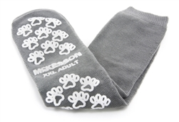 "Slipper Socks McKesson Terriesâ""¢ Adult 2 X-Large Gray Above the Ankle, 1 Pair"