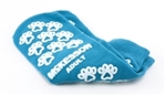 "Slipper Socks McKesson Terriesâ""¢ Adult Teal Above the Ankle, 1 Pair"