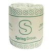 Spring Grove Toilet Tissue, Standard Roll, 500 Sheets, White, 96/CS