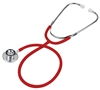 Grafco Dual-Head Stethoscope, Red