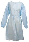 Medi-Pak Performance Fluid-Resistant Gown, One Size Fits Most, Blue, Elastic Cuff, Adult, Disposable, 50/CS