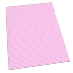 "Dynarex Dental Bibs, Mauve ,17 3/4"" x 12 7/8"", 2-Ply, 500/CS"