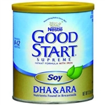 Good Start Infant Formula, Supreme Soy Plus DHA & ARA, Unflavored, 12.9 oz., 6/case