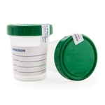 McKesson Specimen Container, Polypropylene/Polyethylene, Screw Cap, 120 mL (4 oz.), Sterile, 100/CS