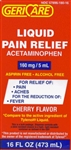Acetaminophen Pain Relief Liquid, Cherry Flavor,160mg, 16 oz, Compares to Tylenol Liquid