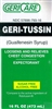 Geri-Tussin Expectorant Liquid, Sugar Free, 100mg, 16 oz, Compares to Robitussin