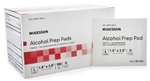 McKesson Isopropyl Alcohol Prep Pads, 70%, Individual Packet, Large, Sterile, 100/BX 10BXS/CS