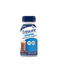Ensure Original Therapeutic Nutrition, Oral Supplement, Chocolate, 8 oz. Bottle, Ready to Use, 24/CS
