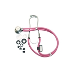 "Grafco Neon Series Sprague Rappaport-Type Stethoscope, 22"", Neon Pink"