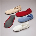 Slippers, non-skid, Blue, Below the Ankle, Adult Medium