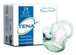 Tena Night Super Pad, Heavy Absorbency, Non-Adhesive, Green, 24/PK, 2PK/CS