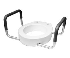 Deluxe Toilet Seat Riser With Removable Armrests