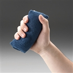 "Posey Hand Exerciser, Palm Grip, Navy Blue, Soft, 5"" x 3"""