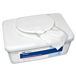 Covidien Wings, Personal Wipes Tub, With Aloe, 64/PK 8PK/CS