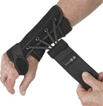 Removable Wrist Brace, Palmar Stay, Suede, Left Hand, Black, Small