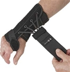 Removable Wrist Brace, Palmar Stay, Suede, Right Hand, Black, Medium