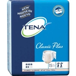 "Tena Brief, Classic Plus, 60-64"" X-Large, Moderate-Heavy Absorbency, 15/PK"