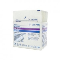 "Excilon I.V./Drain Split Dressing, Poly/Rayon Blend, 4"" x 4"" Square, Sterile, 2/PK 25PK/BX 12BX/CS"