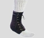 Brace Ankle Support Procare Canvas/ Plastic Large Lace-Up Left or Right Ankle