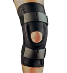 Knee Support Stabilizer, X-Large, Neoprene, Open Patella Hinge, Black