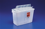 Sharps Container, In-Room, Open-Lid, 12 Quart, Red