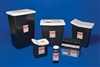RCRA Hazardous Waste Containers, 2 Gallon, Black / White Top, 20/CS