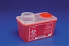 Multi Purpose Sharps Container, Red with Chimney Top, 4 Quart