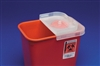 Sharps Container with Rotor Lid , 2 gallon, Red