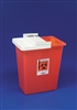 Sharps Container with Hinged Lid, 8 gallon, Red