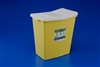 SharpSafety, Chemotherapy Containers with Hinged Top, 8 Gallon, Yellow