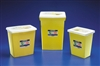 SharpSafety, Chemotherapy Containers with Sliding Lid, 8 Gallon, Yellow, 20/CS