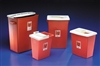 Sharps Container, Hinged Top, 8 Galoon, Red
