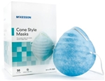 McKesson Procedure Mask, Cone, Headband, One Size Fits Most, 50/BX