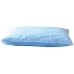"Disposable Tissue / Poly Pillowcases, Blue, 21""X30"", 100/CS"