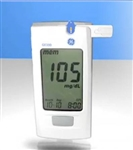 Blood Glucose Meter GE100 5 Seconds Stores Up To 500 Results, 1-, 7-, 14-, 30-, and 90-Day Averaging Automatic Coding