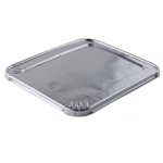 "Half Size Steam Table Deep Aluminum Pan **LIDS**, 9"" x 13"", 100/CS"