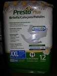 Presto Briefs, Clothlike, Breathable, 2X-Large, 48/CS