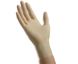 Ambitex Latex Exam Gloves, Powder-Free, Non-Sterile, Medium, Cream, 100/BX 10 BXS/CS