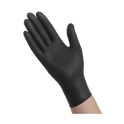 Ambitex Nitrile Exam Gloves, Heavyweight, 6mil Thick, X-Large, Black, 100/BX, 10BX/CS