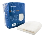 McKesson Ultra Adult Incontinent Brief, Tab Closure, Medium, Disposable, Heavy Absorbency, 16/PK 6 PK/CS