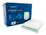McKesson Ultra Adult Incontinent Brief, Tab Closure, Small, Disposable, Heavy Absorbency, 24/PK 4 PK/CS