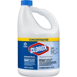 Clorox Germicidal Bleach, Liquid Concentrate, 121 oz. Container, 3/CS