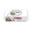 "Cuties, Baby Wipes, 6.7 x 7.7"", Flip Top, Soft Pack, Unscented, Sensitive with Aloe & Vitamin E, 78/PK 12PK/CS"