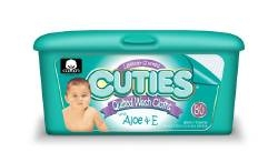 Cuties Baby Wipes, Lavender, 80/PK 12PK/CS